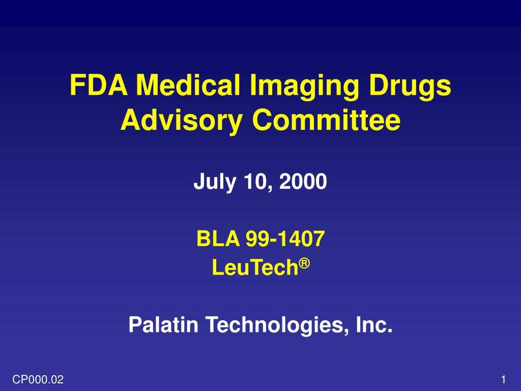 fda medical imaging drugs advisory committee l.