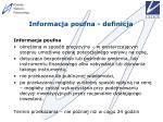 informacja poufna definicja