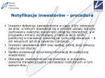 notyfikacje inwestor w procedura