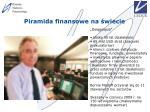 piramida finansowe na wiecie