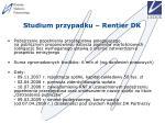 studium przypadku rentier dk57
