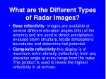 what are the different types of radar images
