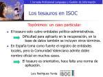 los tesauros en isoc11