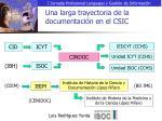 una larga trayectoria de la documentaci n en el csic