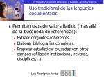 uso tradicional de los lenguajes documentales9