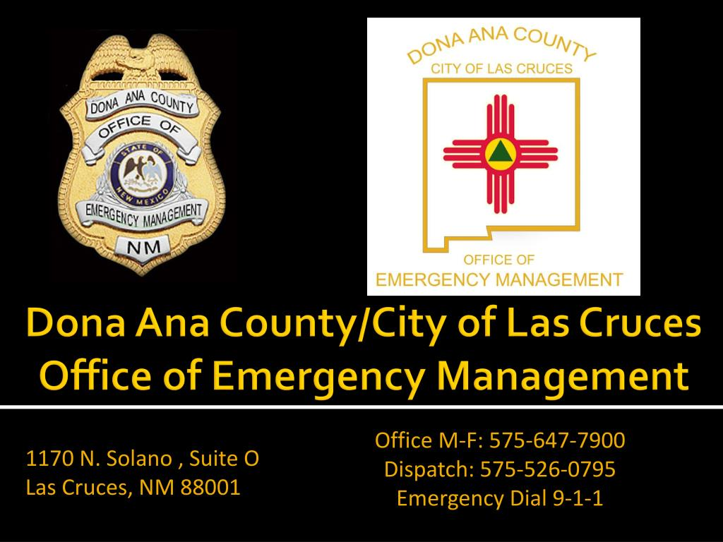 dona ana county city of las cruces office of emergency management l.
