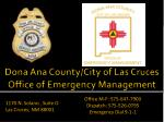 dona ana county city of las cruces office of emergency management