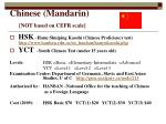 chinese mandarin not based on cefr scale