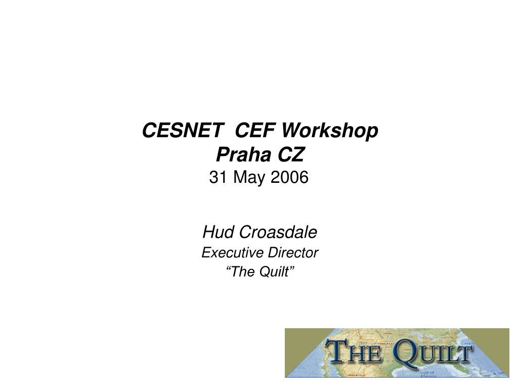 cesnet cef workshop praha cz 31 may 2006 l.
