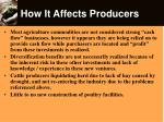 how it affects producers13