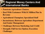 regional money centers and international banks