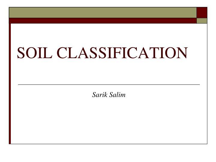 soil classification n.