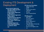 existing its development deployment