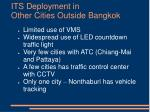 its deployment in other cities outside bangkok