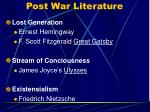 post war literature
