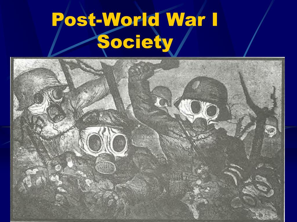 post world war i society l.