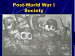 post world war i society