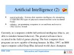 artificial intelligence 2