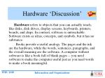 hardware discussion