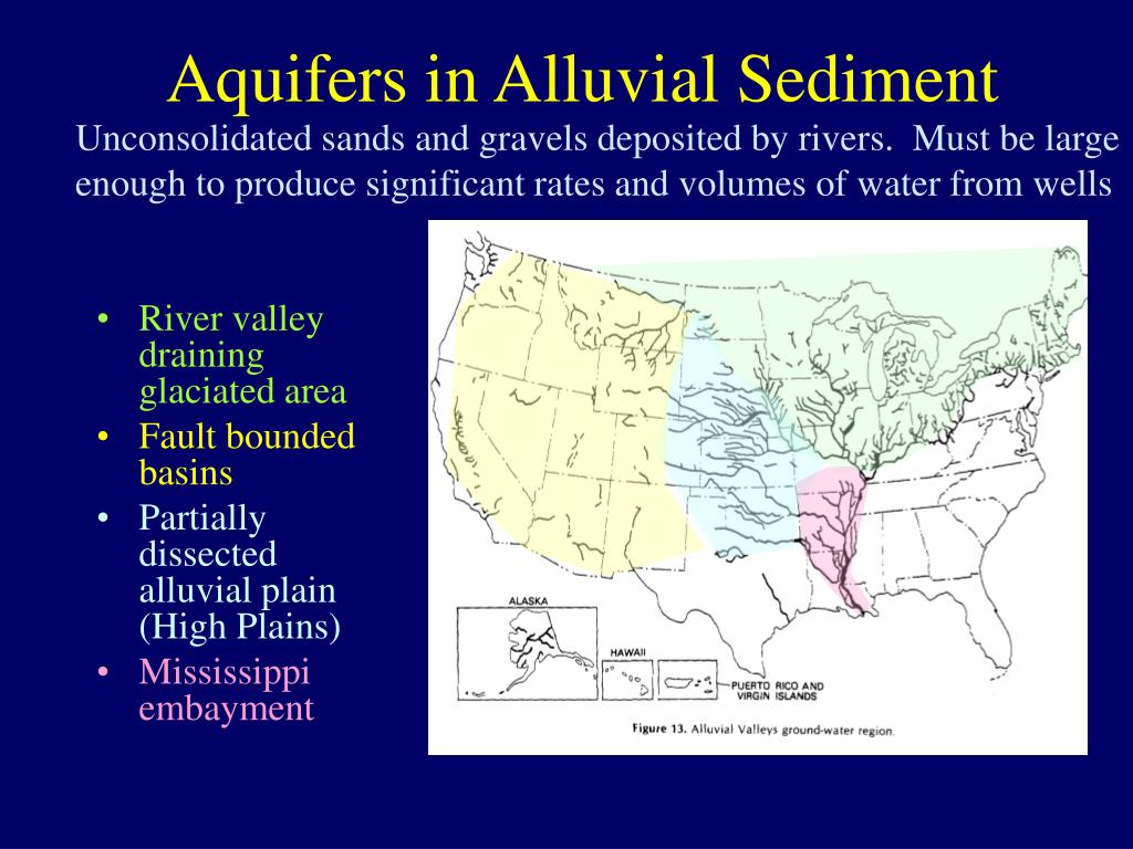 aquifers in alluvial sediment l.