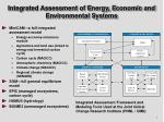 integrated assessment of energy economic and environmental systems