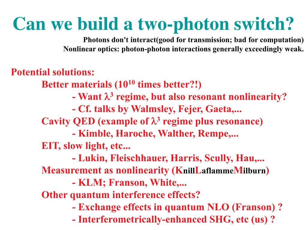 Can we build a two-photon switch?