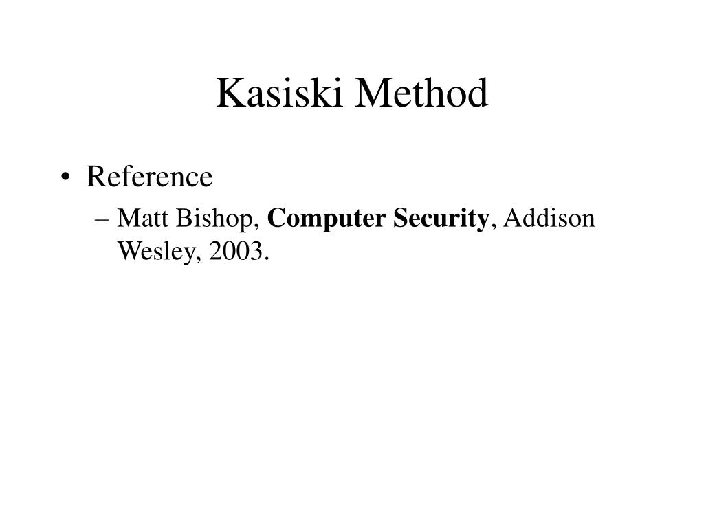 kasiski method l.