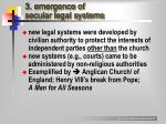 3 emergence of secular legal systems
