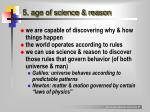 5 age of science reason