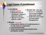legal bases of punishment
