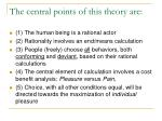 the central points of this theory are