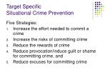 target specific situational crime prevention