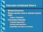 concepts in rational choice