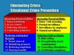 eliminating crime situational crime prevention