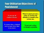 four utilitarian objectives of punishment