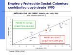 empleo y protecci n social cobertura contributiva cay desde 1990
