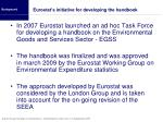 eurostat s initiative for developing the handbook