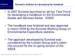 eurostat s initiative for developing the handbook
