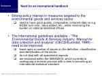 need for an international handbook