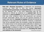 relevant rules of evidence26