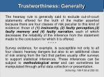trustworthiness generally