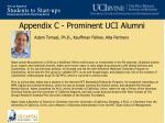 appendix c prominent uci alumni