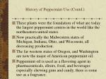 history of peppermint use contd