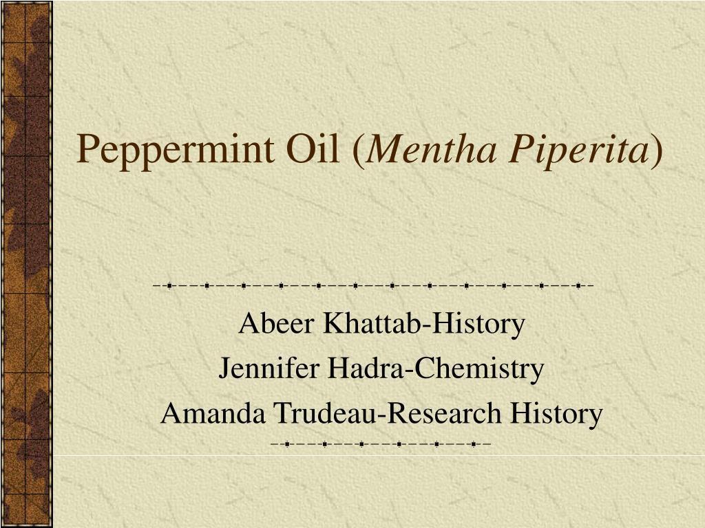 peppermint oil mentha piperita l.