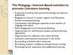 the pedagogy internet based activities to promote literature learning