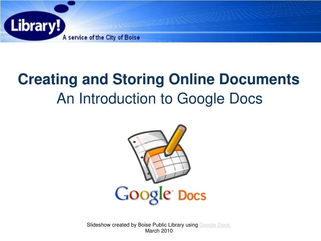 creating and storing online documents l.