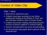 context of video clip