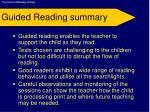 guided reading summary