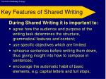 key features of shared writing
