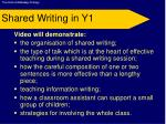 shared writing in y1